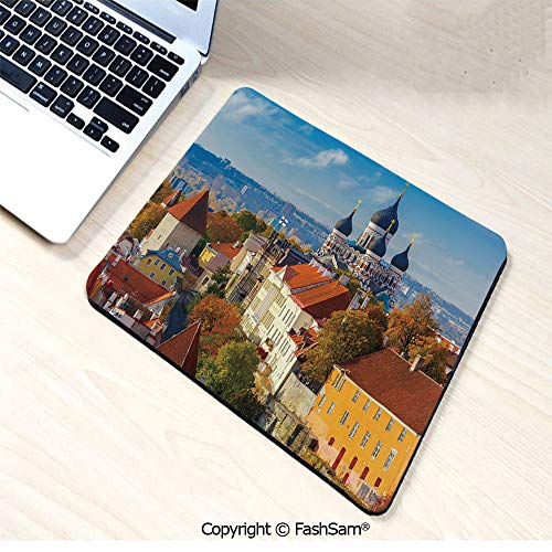 (Personalized 3D Mouse Pad Toompea Hill with Historical Tower Russian Cathedral Old City Culture Landmark Image for Laptop)