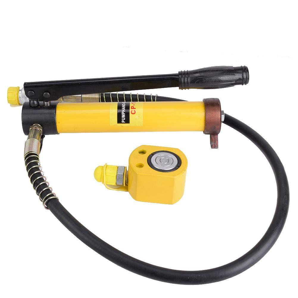 10T Hydraulic Jack, Manual Hydraulic Pump + Ultra-Thin 10T Hydraulic Jack Steel Handle Lifting Tool Oil Storage Capacity: 350CC by Vikye