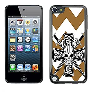 - Devil Cross Chevron Pattern - - Fashion Dream Catcher Design Hard Plastic Protective Case Cover FOR Apple iPod Touch 5 Retro Candy