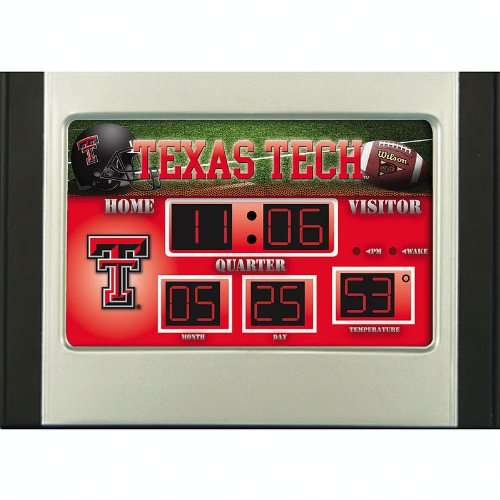 Texas Tech Red Raiders Scoreboard Desk Clock