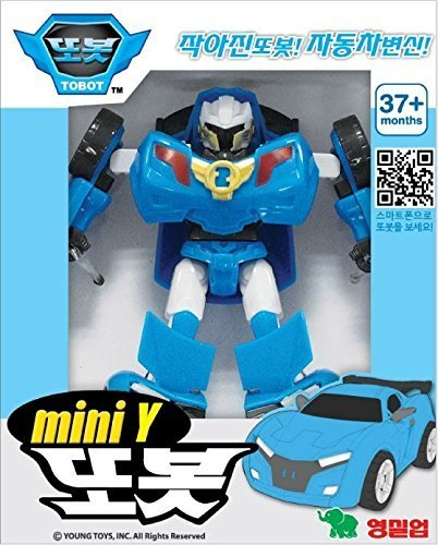Tobot Mini Y Transformer Robot Vehicle Figure : Korean Animation Transformers Character by Young Toys