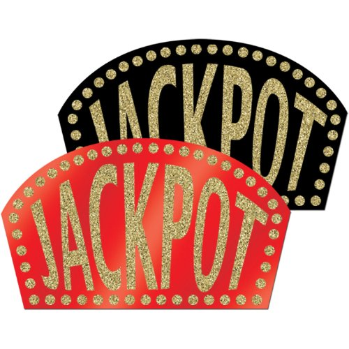 Glittered Jackpot Signs Party Accessory (1 count)]()
