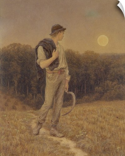 Helen Victorian Print - Canvas on Demand Helen Allingham Wall Peel Wall Art Print entitled The Harvest Moon, globed in mellow splendour, 1879 19