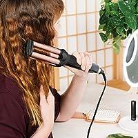 Navaris Rizador de pelo - Moldeador para rizos con recubrimiento ...