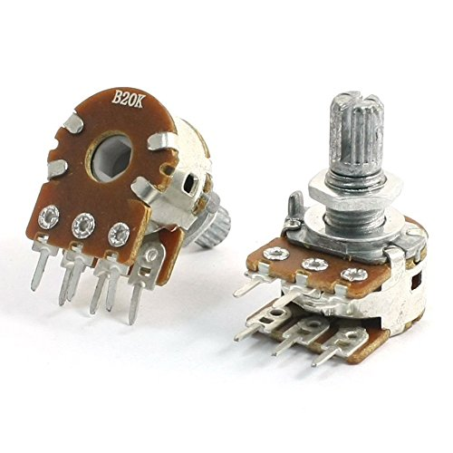 Potentiometer - TOOGOO(R) 2Pcs B20K 20K Ohm 8mm Shaft, used for sale  Delivered anywhere in USA