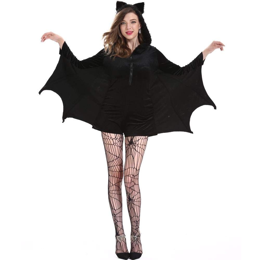 YOUTH UNION Women's Halloween Cosplay Costume Bat Vampire Dress Up (L) by YOUTH UNION (Image #5)