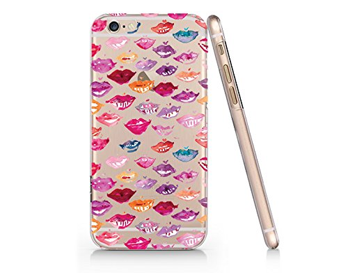 Lip Stick Lip Color Water Pattern Slim Iphone 6 6S Case, Clear Iphone 6 6S Hard Cover Case For Apple Iphone 6 /6S -Emerishop (LA165.6sl)