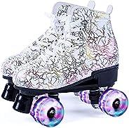 Roller Skates for Women, Girls's Quad Rink Skates - Outdoor Classic Roller Skates for Adult/Men/Un