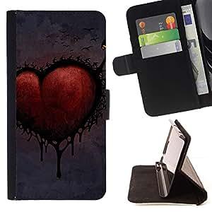 Momo Phone Case / Flip Funda de Cuero Case Cover - Amor gótico Corazón Oscuro - Sony Xperia M5
