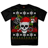 Hot Leathers Men's Jumbo Print Ugly Christmas T-Shirt (Black, XXX-Large)