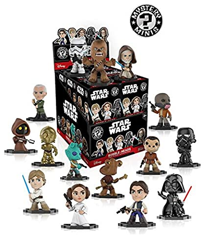 Star Wars Classic Mystery Minis Display Case of 12 Blind Box Bobble Head figures - Lost Soles Vinyl