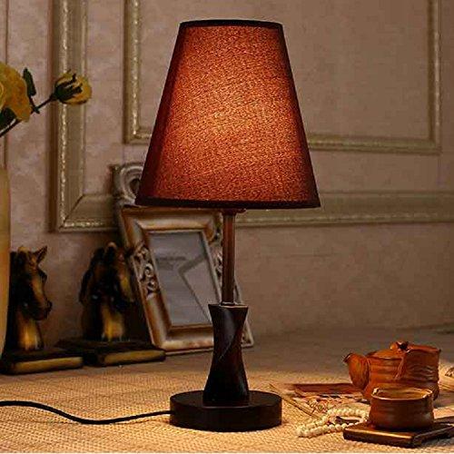 TRAVEPPY Solid Wood Bedroom Table Lamp Beside Lighting Desk Lamp (Octagonal Lamp Table)