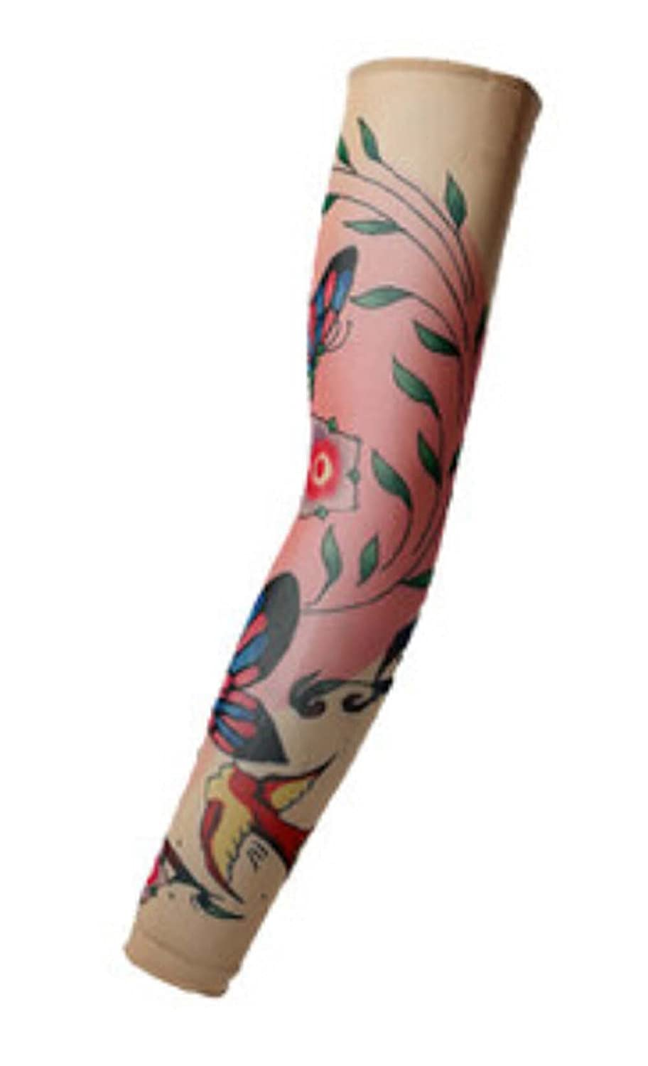 Butterfly Tattoo Cycling Running Arm Warmers Cool Summer Arm Pro Arm Sleeves, M PANDA SUPERSTORE