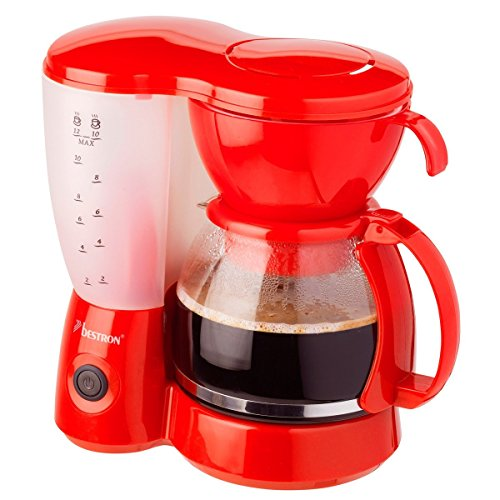 Bestron Acm6081R Cafeteras de Goteo, Rojo