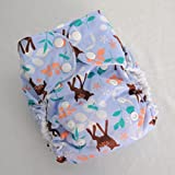 Deer - Pocket Diaper - One Size Fits Most - 8 to 40 pounds - TheCraftEGal
