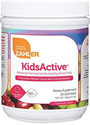 Zahler KidsActive, Kids CONCENTRATION Formula Powder, All Natural Children's Supplement Supporting FOCUS and ATTENTION