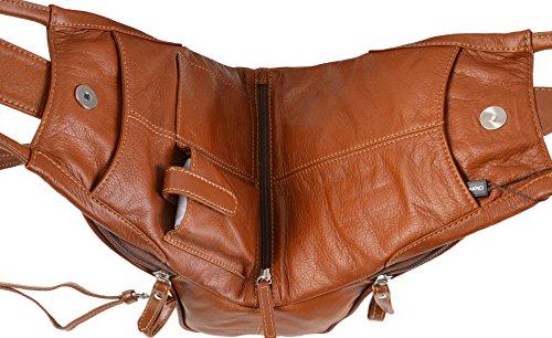 Rucksack Tan Shoulder Leather Backpack Gianni Medium Conti 584849 Italian Fine B14BwzYq