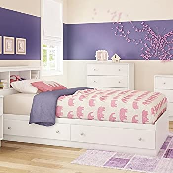 South Shore Furniture 39   Litchi Mates Bed  Twin  Pure White. Amazon com  South Shore 39  Callesto Mates Bed with 3 Drawers