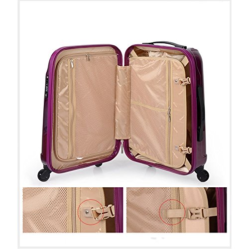 Aluminum Alloy Pull Rod MING REN Luggage Sets Pull Rod Box Mute Universal Wheel Suitable For Travel And Short Trip TSA Password Lock Fashion Shell Type Beautiful Mirror 2 Colors And 2 Sizes Mu
