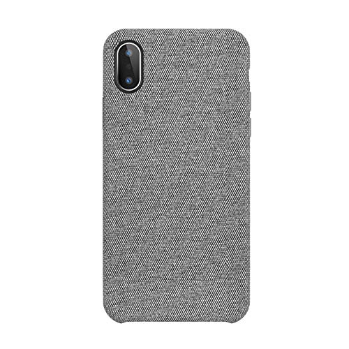 Fabric Back Cover - iPhone X Case, iPhone 10 Case Fabric Back Cover Protective Phone Case Supports Wireless Charging for Apple iPhone X/iPhone 10 5.8 inch (2018) - Grey