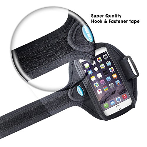 Armband for iPhone 6 6s 7 8 Plus, Samsung Galaxy Note 8 and S8 Plus - for Running, Jogging & Working Out - Water Resistant - for Women & Men [Black] See Fit Details by Tune Belt (Image #5)