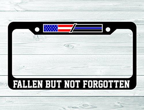 Fallen Officer Flag Fallen but Not Forgotten License Plate Frame Holder ()