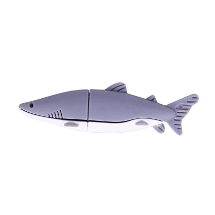 Cute Cartoon Shark Usb Flash Drive 4gb 8gb Memory Stick Usb 2.0 Pendrive 32g 16g 64gb Flash Usb Stick Pen Drive Free Shipping Computer & Office