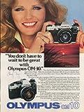 Cheryl Tiegs for Olympus OM-10 camera ad 1980