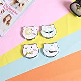 Yingealy Childrens Mirror Mini Cat Shape Small Glass Mirrors Circles for Crafts Decoration Cosmetic Accessory