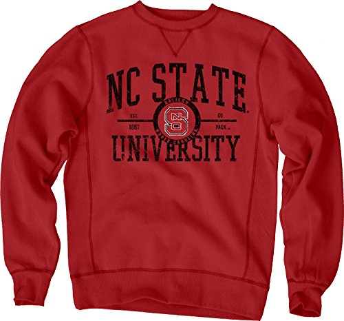 NCAA North Carolina State Wolfpack Sanded Fleece Crew Neck, Red, X-Large (Nc State Football)