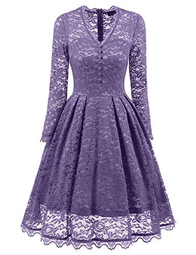 成り立つ予約符号iBasteドレス ワンピース チュニック レース 長袖 細身 透け感 おしゃれvネック エレガント 結婚式 宴会 パーティー フォーマルウェア 上品 ミディワンピース