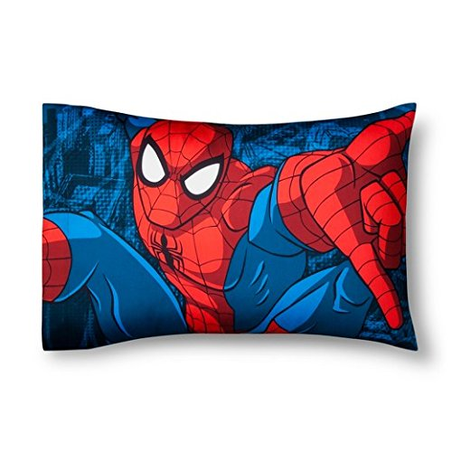 'Marvel Spider-Man Red & Blue Pillow Case (Standard) franco