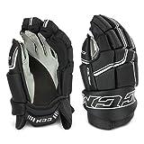 CCM QLT 250 Junior Ice Hockey Gloves (Black/White, 10)