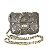 Bella Quilted Small Cross-body Handbag (Smoke), Bags Central