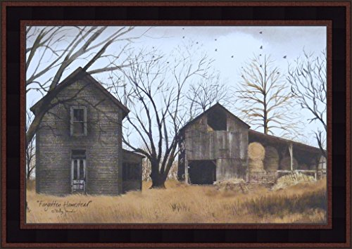 Forgotten Homestead by Billy Jacobs 15x21 Old Weathered House Barn Farm Primitive Folk Art Print Framed Picture