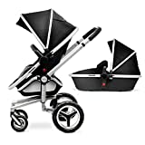 Classic Silver Cross Surf 2 Baby Stroller and Pram- Black
