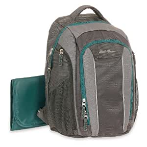 diaper bag eddie bauer backpack grey turquoise baby. Black Bedroom Furniture Sets. Home Design Ideas