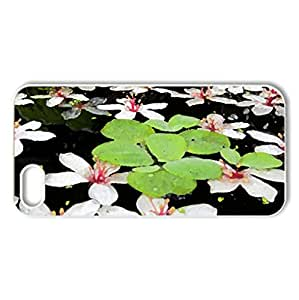 Fallen flowers in the water - Case Cover for iPhone 5 and 5S (Flowers Series, Watercolor style, White)