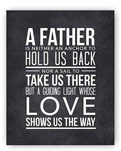 Father Quote Chalkboard Print Unique