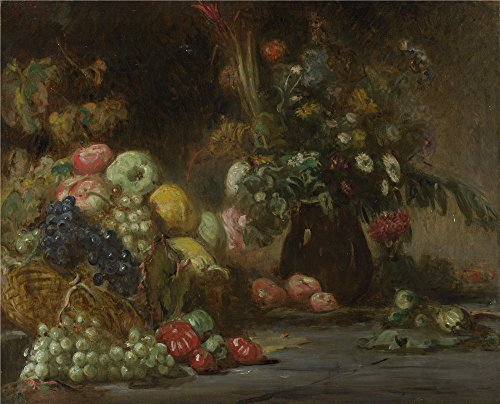 Oil Painting 'Pierre Andrieu Still Life With Fruit And Flowers' 24 x 30 inch / 61 x 75 cm , on High Definition HD canvas prints is for Gifts And Dining Room, Foyer And Home Theater Decoration, deals