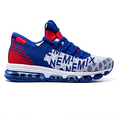 Blue Breathable Shoes Adult Sport white Running Cushion Air Mid Women's top Men's Unisex Trainers Onemix axwOqpSvt