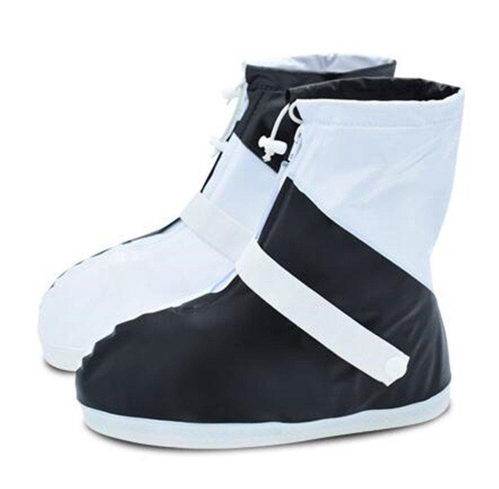 Womens Mens Waterproof Rain Shoe Covers Resistant Outdoor Rainproof Black S