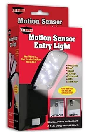 Motion Sensor Entry Light 7 Bright Led Indoor Outdoor Door