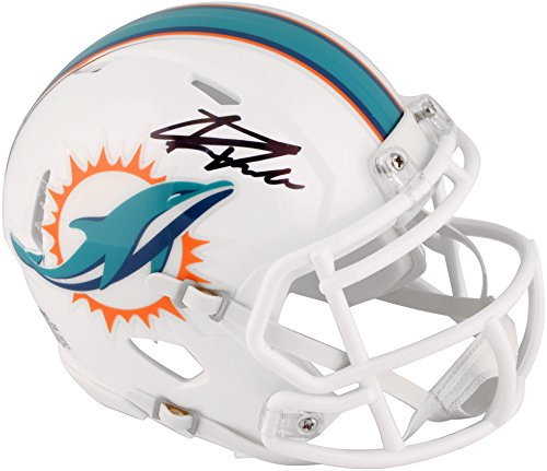 - Kenyan Drake Miami Dolphins Autographed Riddell Speed Mini Helmet - Fanatics Authentic Certified - Autographed NFL Mini Helmets