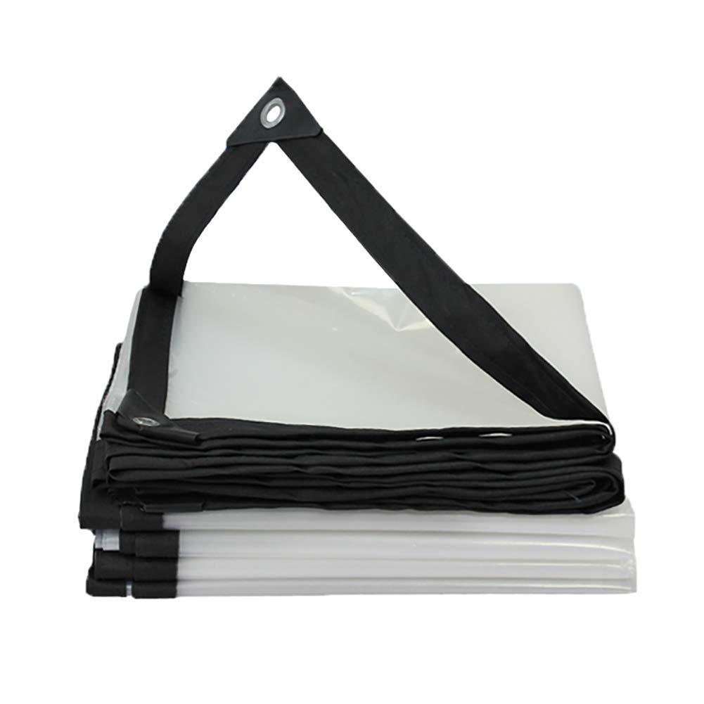 2x5m BÂche de tente durable BÂche imperméable, auvent transparent, tente polyvalente de ménage imperméable imperméable de poncho de fenêtre de balcon (Taille   2x8m)