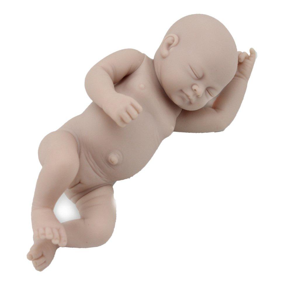 YIHANGG Simulation Baby Wiedergeburt Puppe Handgemachte 10 Zoll 28 cm Mädchen Niedlich Geschlossenen Augen Form Geburtstagsgeschenk Kinderspielzeug