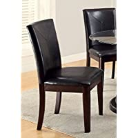 Furniture of America Ollivander 2-Piece Dining Side Chairs - Dark Walnut