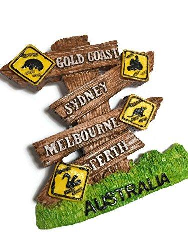 Perth Gold Coast Perth Sydney Australia Souvenir Colección 3d imán ...