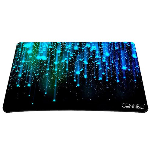 Cennbie Middle Size Mouse Pad Blue Line Sparkles Large MousePad Computer Desk Stationery Accessories Mouse Pads (23.6''W x 17.7