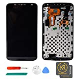 KR-NET Black Display LCD Touch Screen Digitizer Assembly + Frame +Adhesive Tape for Nexus 6 XT1100 XT1103 w/ Tools